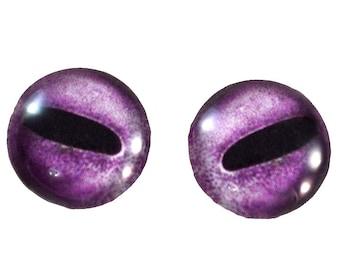 Octopus Glass Eyes - 16mm - Glass Eyes - Purple