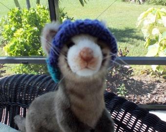 Pet Ferret Hat hand knit NORO Merino wool