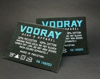 100 woven labels custom,custom clothing tags, hem clothing labels, custom woven labels