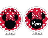 Minnie Mouse Sticker in Red