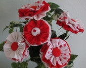 Valentines Day Fabric Flowers