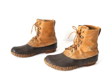 vintage DUCK boots women's size 7 SOREL style SPRING hiking ski booties