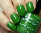 Green creme indie nail polish (The Grinch)