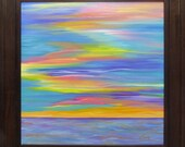 Abstract Sunset...Framed Painting...Kelly Hutchinson