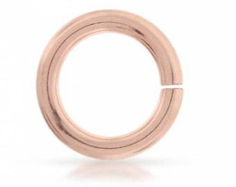14Kt Rose Gold Filled 14ga 10mm Open Jump Rings  - 5pcs 10% discounted Made in USA (4561)/1