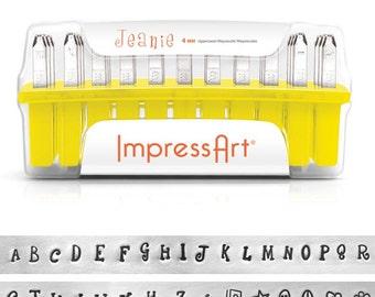 ImpressArt, Jeanie Upper Case Alphabet Stamp Set,  4mm, - 1 Pc  (4954)/1