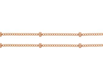 14Kt Rose Gold Filled 1mm Satellite Chain - 100ft (5357-100)  Made in USA 30% discounted LOWEST PRICE wholesale quantity