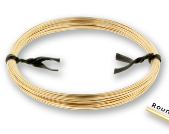 14Kt Gold Filled 28gauge Soft Round Wire - 1ozt  NEW low Wholesale Price - Made in USA (2702)/1