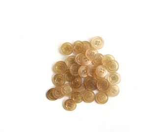 7 Clear Neutral Brown Vintage Buttons