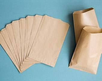 Blank Paper Bags - Kraft Favor Bags - SET OF 10 - Ready to ship
