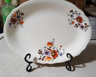 Vintage Flowered Platter