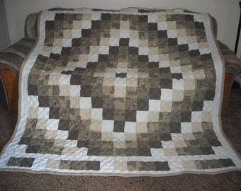 Trip Around the World Custom Made Handmade Quilt  - Made in fabrics of your choice - 5 sizes to choose from!!!