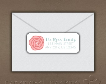 Shabby Chic Self Adhesive Return Address Label