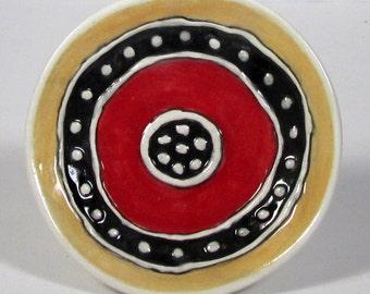 Handmade ceramic Wall decor  Ring dish  Ready to ship