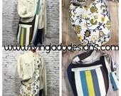 Stripey Floral India Hobo Bag