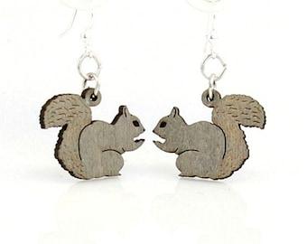 Squirrel Earrings - Wooden Laser Cut