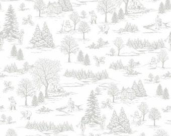 Winter Essentials IV Winter Toile Grey White by Studio E Fabrics