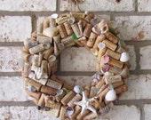 Seashell and Wine Cork Wreath Custom Made