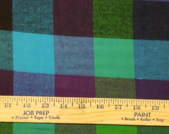 Purple,green and blue Cotton Flannel