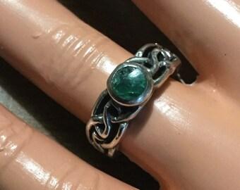 Amethyst sterling celtic knot ring   VJSE