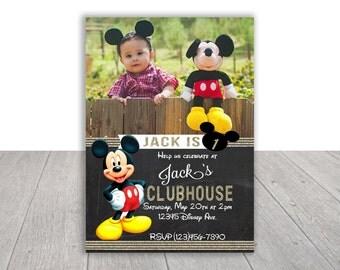 Mickey Mouse Printable Invitation