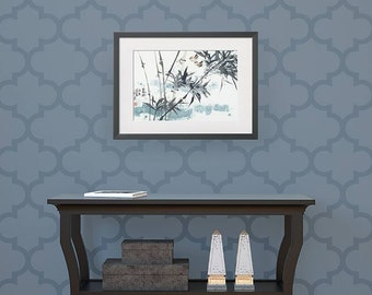 Large Wall Stencil - Moroccan Style Wallpaper Look with Trellis Designs - Painted Wall Mural Art Stencils