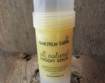 Lotion stick - made with beeswax and a variety of skin nourishing oils