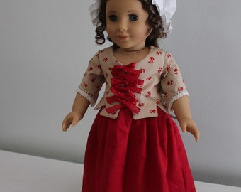 1770s Jacket & Skirt outfit for 18in. dolls