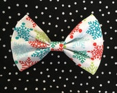 Snowflake Fabric Bow by The Spunky Little Monkey
