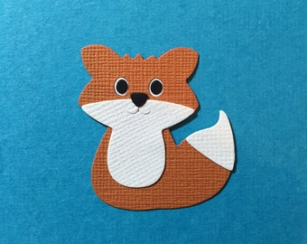 4 Baby Fox Die Cut Embellishments for Scrapbooking Cards and Paper Crafts Foxes Foxy Free Regular Post Australia