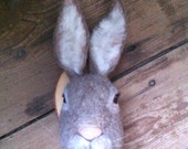 ON SALE sweet felted rabbit mount by felt factory -READY To Ship