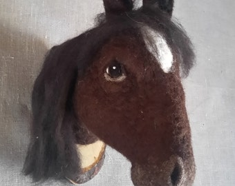 needlefelted horse head style fake taxidermy by Feltfactory - READY TO SHIP