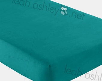 Fitted Crib Sheet - Solid Teal - fcs
