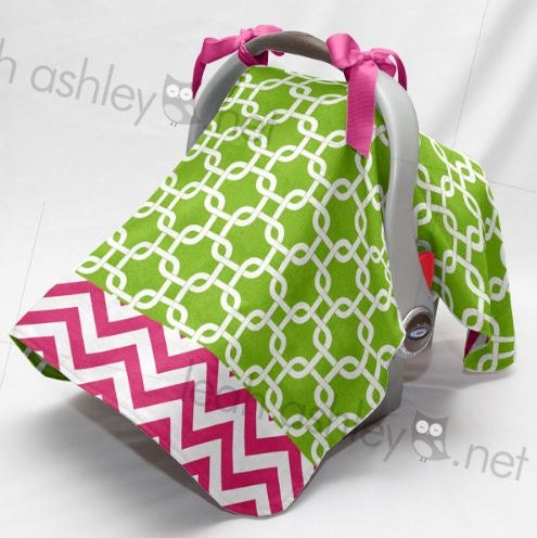 Carseat Canopy Cover Tent Lime Green Square Hot By