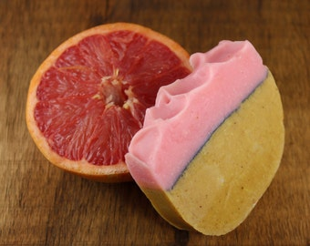 White Grapefruit Cold Process Soap, Handmade, Vegan Friendly, All Natural Soap