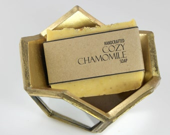 Chamomile Neroli Calendula Soap, Vegan Friendly, Handmade Cold Process Soap, All Natural Soap