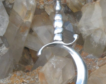 Wiccan Harvest Symbol Pendant. Celtic Harvest Symbol Charm.Pagan Harvest Charm.Lammas Charm.