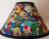 Super Mario Characters Fabric Childrens Lamp Shade