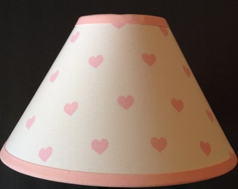 Pink Hearts Fabric Nursery Lamp Shade M2M Pottery Barn Kids