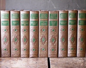 Instant Library - World's Greatest Literature Book Series by the Spencer Press - @1936 - Set of 13 Books