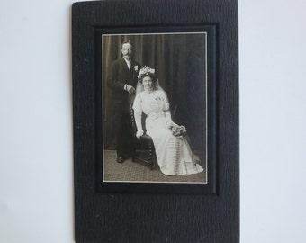 Antique Wedding Portrait Cabinet Card
