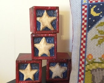 Hand carved - hand painted - wood blocks- OFG - FAAP
