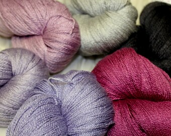 Merino & Silk 2 ply Laceweight yarn