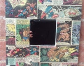 "Marvel original vintage Avengers comic strip Art square, little 10"" mirror"
