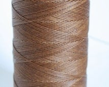 Macrame cord, waxed polyester cord, TREE BROWN colored, 0.8 mm. flat braid, jewelry making friendship bracelet
