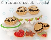 Christmas Sweet treats pdf pattern with Cake stand & mince pies