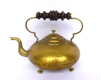 VINTAGE BRASS TEAKETTLE