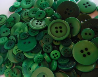 Grasshopper Green Buttons, 100 Bulk Assorted Round Multi Size Crafting Sewing Buttons