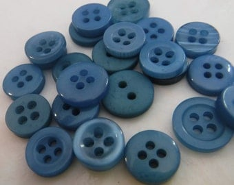 Pacific Blue Buttons, 500 Small Assorted Round Sewing Crafting Bulk Buttons