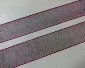 Purple Organza Ribbon 5 Yards